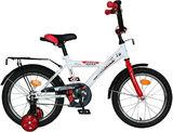 """Детский велосипед NOVATRACK Astra 16"""" от 4 до 6 лет белый"""
