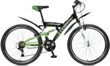 """Двухподвесный велосипед Stinger Banzai 26"""" зеленый"""