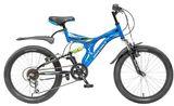 Детский велосипед со скоростями Novatrack Titaniun 20'' синий