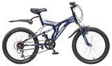 Детский велосипед со скоростями Novatrack Titaniun 20'' темно-синий