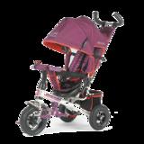 Детский трехколесный велосипед Tech Team 952S-AT с надувными колесами фиолетовый