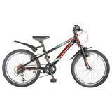 """Детский велосипед со скоростями Novatrack POINTER 20"""" черный"""