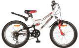 Детский горный велосипед NOVATRACK Shark 20 6 красный