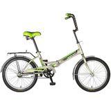 Складной подростковый велосипед Novatrack FP-20  20'' серебристый