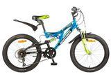 Детский горный велосипед NOVATRACK Shark 20 6 синий