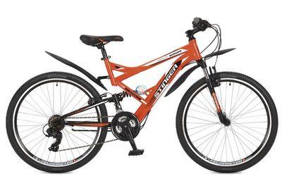 """Двухподвесный горный велосипед STINGER Versus 26"""" оранжевый"""