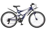 """Двухподвесный горный велосипед STINGER Versus 26"""" синий"""