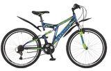 """Двухподвесный гоный велосипед Stinger Highlander 100V 26"""""""