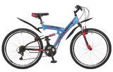 """Двухподвесный велосипед Stinger Banzai 26"""" синий"""