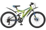 """Подростковый двухподесный велосипед STINGER Highlander 24"""" D зеленый"""