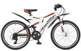 """Подростковый двухподесный велосипед STINGER Highlander 24"""" белый"""