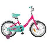 """Детский велосипед Novatrack Ancona 16"""" от 4 до 6 лет розовый"""