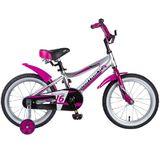 Детский велосипед Novatrack Novara 16'' от 4 до 6 лет серо-малиновый