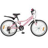 """Детский велосипед со скоростями Novatrack Alice 20"""" розовый"""