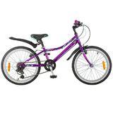 """Детский велосипед со скоростями Novatrack Alice 20"""" темно-фиолетовый"""