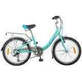 """Детский велосипед со скоростями Novatrack Ancona 20"""" бирюзовый"""