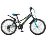 """Детский велосипед со скоростями Novatrack Valiant 20"""" черный"""
