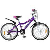 """Детский велосипед со скоростями NOVATRACK Novara 20"""" фиолетовый"""