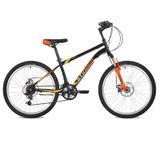 """Подростковый горный велосипед Stinger Caiman D 24"""" черный"""