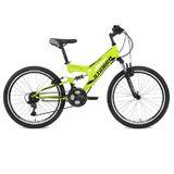 """Подростковый двухподесный велосипед STINGER Highlander 24"""" салатовый"""