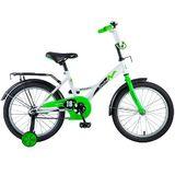 """Детский велосипед Novatrack STRIKE 18"""" от 5 до 7 лет бело-зеленый"""