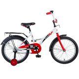 """Детский велосипед Novatrack STRIKE 18"""" от 5 до 7 лет бело-красный"""