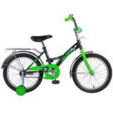 """Детский велосипед Novatrack STRIKE 18"""" от 5 до 7 лет черно-зеленый"""