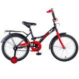 """Детский велосипед Novatrack STRIKE 18"""" от 5 до 7 лет черно-красный"""