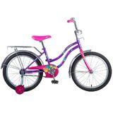Детский велосипед Novatrack Tetris 20'' от 6 до 10 лет фиолетовый