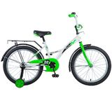 """Детский велосипед Novatrack Strike 20"""" от 6 до 10 лет бело-зеленый"""