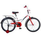 """Детский велосипед Novatrack Strike 20"""" от 6 до 10 лет бело-красный"""