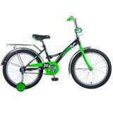 """Детский велосипед Novatrack Strike 20"""" от 6 до 10 лет черно-зеленый"""
