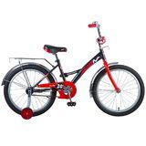 """Детский велосипед Novatrack Strike 20"""" от 6 до 10 лет черно-красный"""