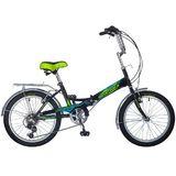 Складной подростковый велосипед 6 скор. Novatrack FS-30 20'' черный