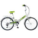 """Складной велосипед Novatrack TG-24 """"серебристый"""