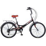 """Складной велосипед Novatrack TG-24 """" черный"""