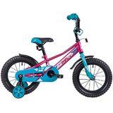 """Детский велосипед Novatrack Valliant 14"""" от 3 до 5 лет малиновый"""