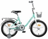 """Детский велосипед Novatrack Maple  16"""" от 4 до 6 лет бирюзовый"""