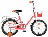 """Детский велосипед Novatrack Maple  16"""" от 4 до 6 лет красный"""