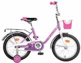 """Детский велосипед Novatrack Maple  16"""" от 4 до 6 лет фиолетовый"""