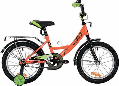 """Детский велосипед Novatrack Vector 16"""" от 4 до 6 лет оранжевый"""