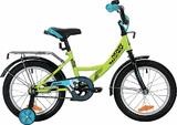 """Детский велосипед Novatrack Vector 16"""" от 4 до 6 лет зеленый"""