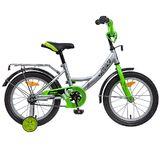 """Детский велосипед Novatrack Vector 16"""" от 4 до 6 лет серебристый"""