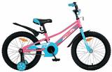 "Детский велосипед Novatrack Valliant 16"" от 4 до 6 лет фуксия"