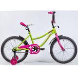 """Детский велосипед Novatrack NEPTUNE 18"""" от 5 до 7 лет салатовый"""