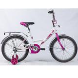 """Детский велосипед Novatrack URBAN 18"""" от 5 до 7 лет бело-розовый"""
