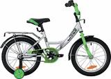 """Детский велосипед Novatrack VECTOR 18"""" от 5 до 7 лет серебристый"""