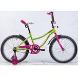 """Детский велосипед Novatrack NEPTUNE 20"""" от 6 до 10 лет салатовый"""
