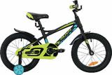 """Детский велосипед Novatrack TORNADO 16"""" от 4 до 6 лет черный"""