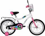 """Детский велосипед Novatrack Candy 16"""" от 4 до 6 лет белый"""